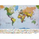 Svět - politická mapa, 136x100 mm