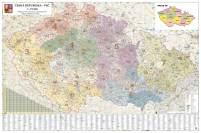 Spediční mapa ČR, 135x90 mm, lišty