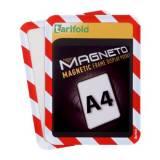 Magnetická kapsa A4, 2ks, červeno-bílá