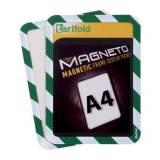 Magnetická kapsa A4, 2ks, zeleno-bílá